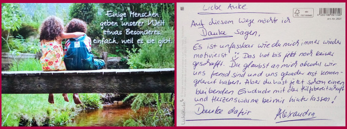 Kundenmeinung Postkarte