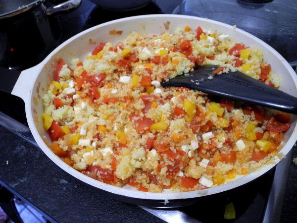 Cous Cous Salat fertig kochen